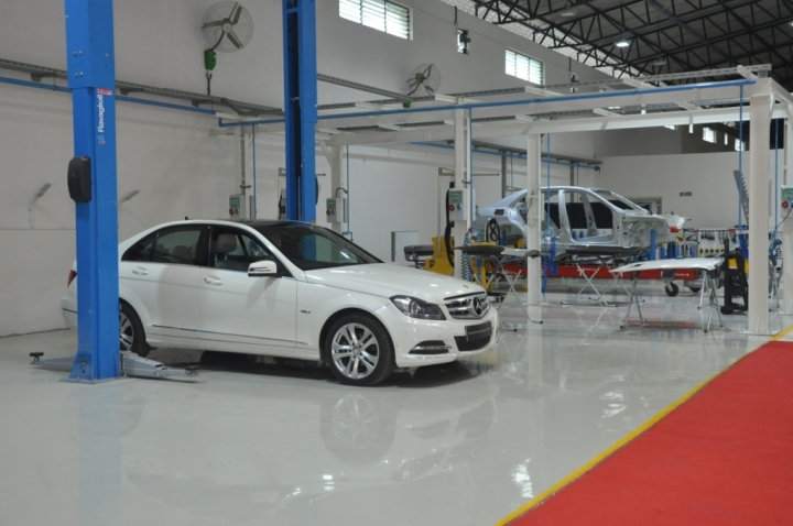 Inside the Advanced Auto Body Repair Training Centre by Mercedes-Benz- 3