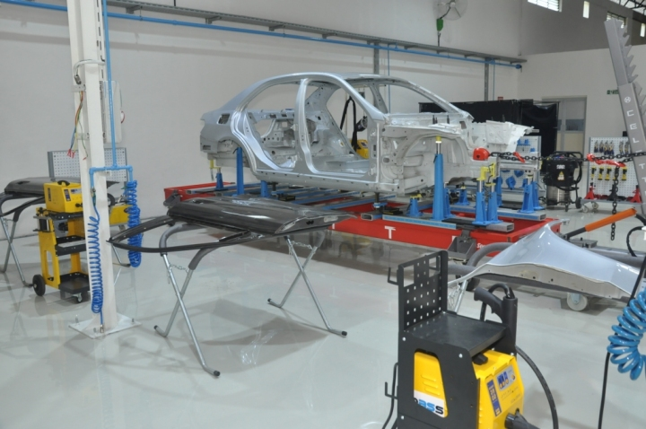 Inside the Advanced Auto Body Repair Training Centre by Mercedes-Benz- 4