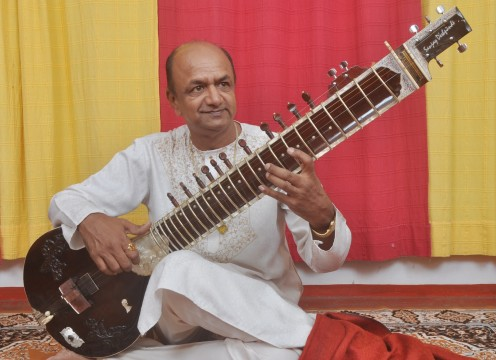 Pandit Sanjay, Sitar Player (Horizontal)