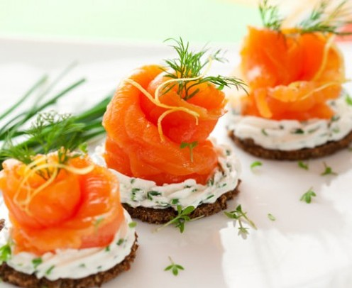 5. SMOKED SALMON & CREAM CHEESE ROLLS