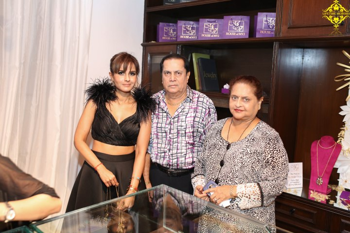 Monicka Vadera Poonawalla with Subash and Neelam Sanas