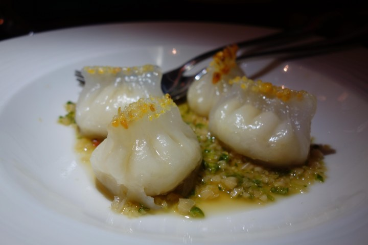 Fish dumplings, Mandarin and Mircchi