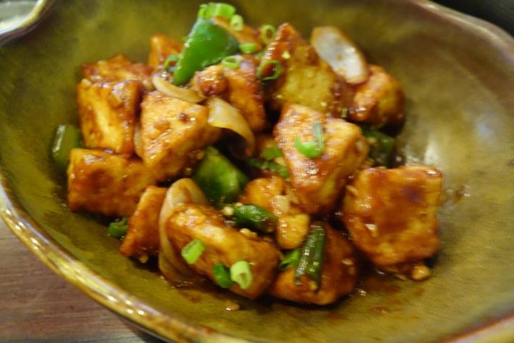 Paneer chili pepper, Mandarin and Mircchi