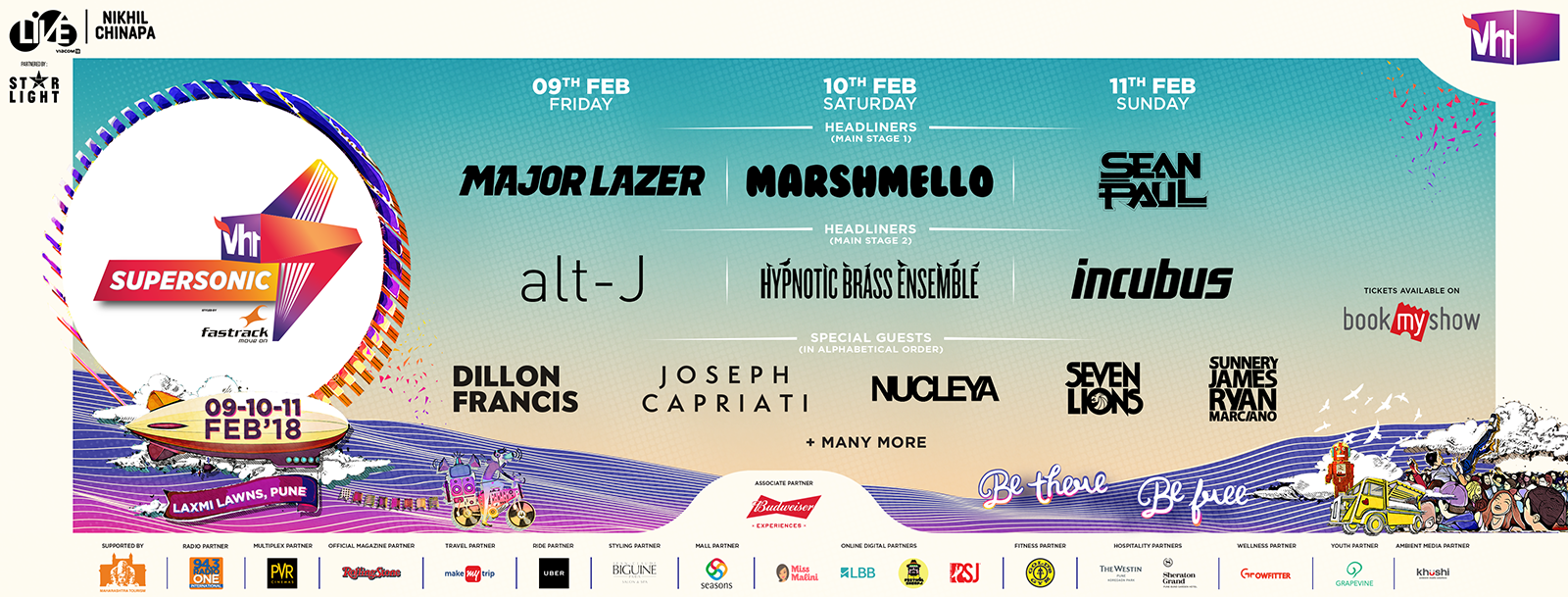 Vh1 Supersonic 2018, Pune