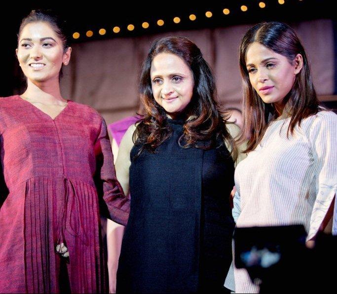 Designer Monika Chordia with Showstoppers Ashleysha Yesugade & Varsha Rajkhowa