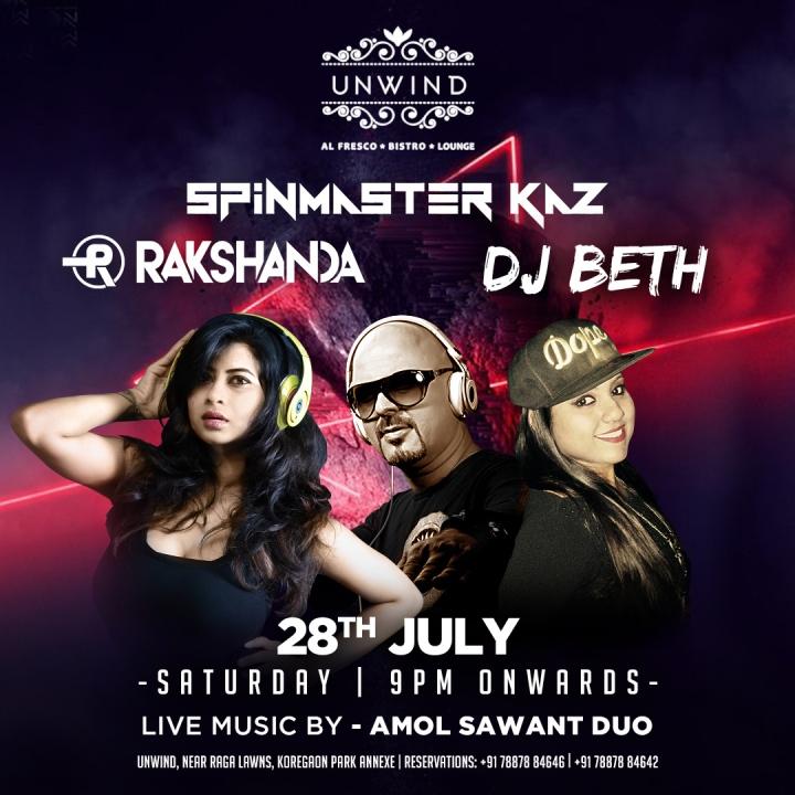 28th July - (Insta) Unwind - Kaz, Beth, Rakshanda