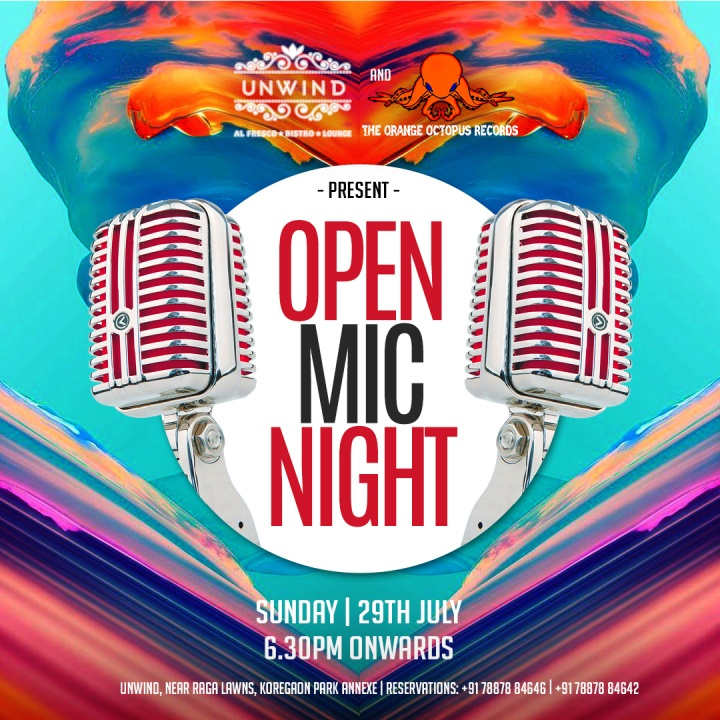 Unwind - (Insta & FB) Open Mic Night - 29th July