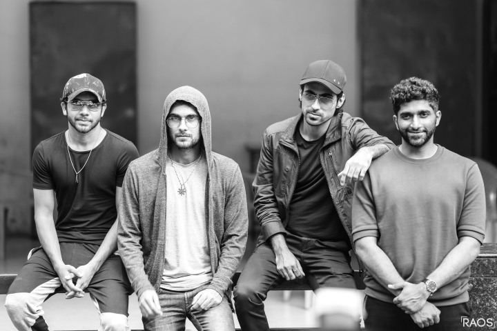 The SANAM Band Keshav Dhanraj, Sanam Puri, Samar Puri and Venkat Subramaniyam at The Aranha's Rodary School Camp for Press Conference