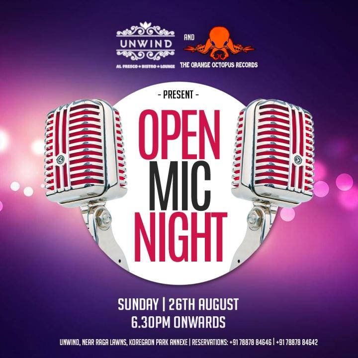 Unwind - (Insta & FB) Open Mic Night - 26th August