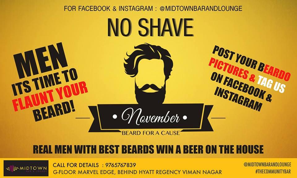 no shave november pune