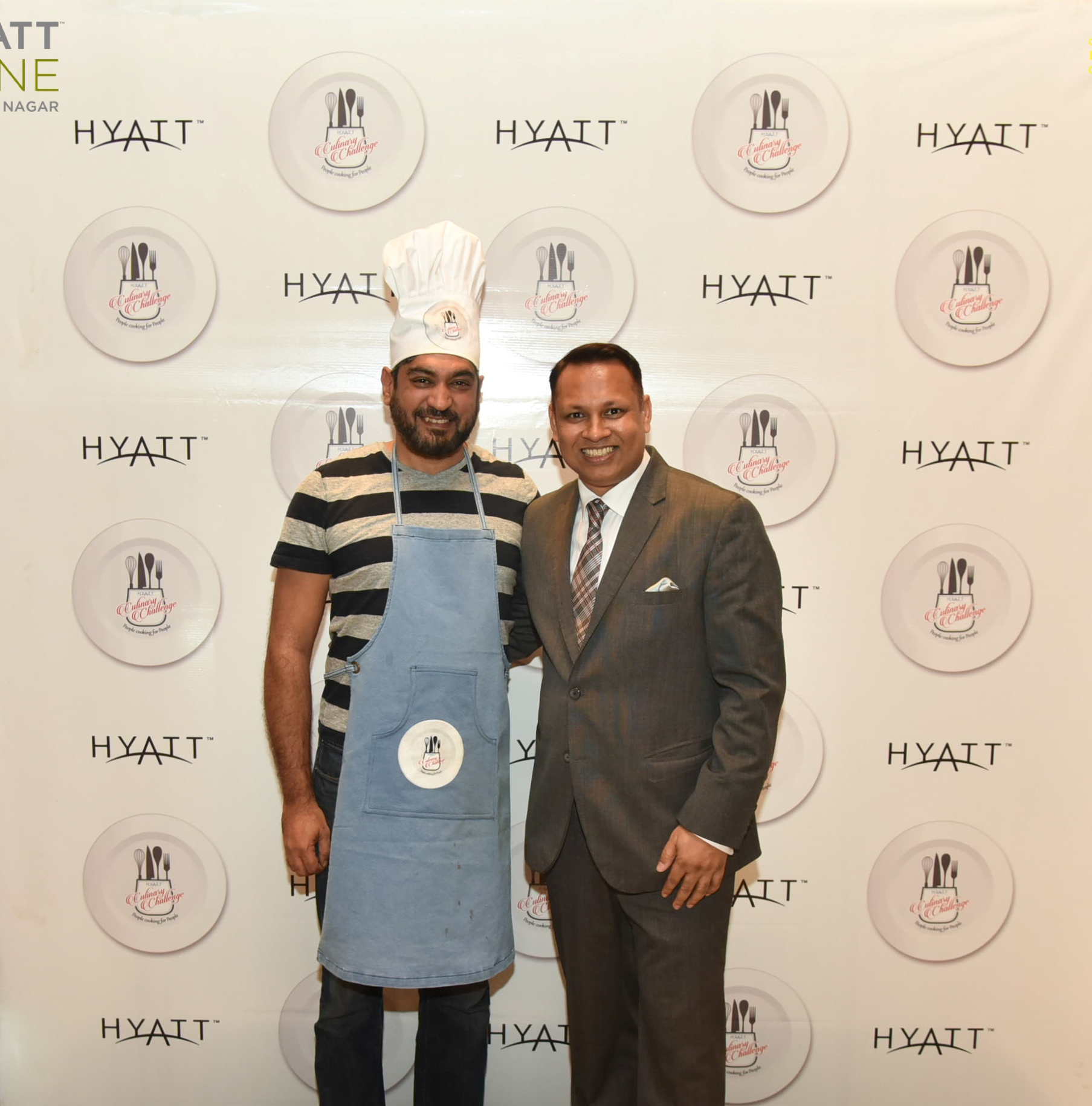 Winner Hyatt Culinary Challenge - Mr. Tarun Sharma CEO, BMC and General Manager Hyatt Pune - Mr. Sumit Kumar