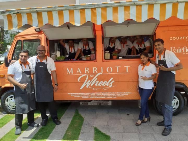 Chef Rounak Kringer, Chef Sathis Reddy, Athena Salim, GM and Chef Feroz Patel