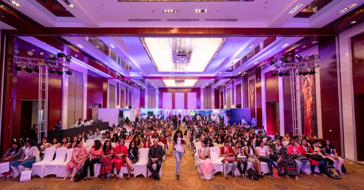 Women participent at 'WomenChangemakers Career Fair and Confluence' 2019 in Pune