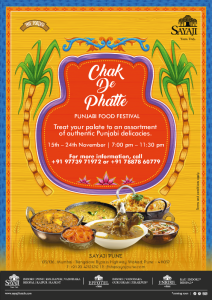 Sayaji Pune brings Punjab to Pune with Chak De Phatte – Punjabi Food Festival